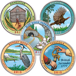2015 Colorized National Park Quarter Year Set