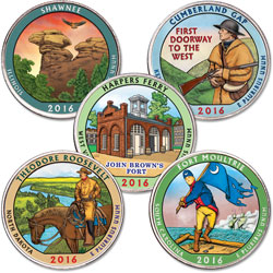 2016 Colorized National Park Quarter Year Set