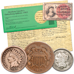 Civil War-Era Currency Set with Free Gift