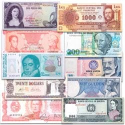 1963-2005 Set of South American Bank Notes