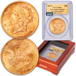 1857-S Gold Liberty Head Double Eagle