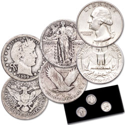 20th Century Silver Quarters Set