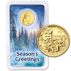2018 Native American Dollar in Season's Greetings Showpak