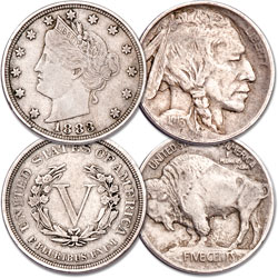 First-Year Type One 1883 & 1913 Nickel Set