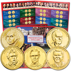 2007-2016 Presidential Dollar Set with Folder