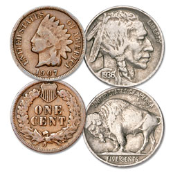 Indian Head Cent & Buffalo Nickel Set