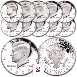"2010-2020 ""S"" Mint Kennedy Half Dollar Set"