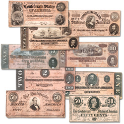 1864 Complete Confederate Note Set