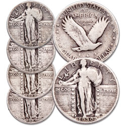 1926-1930 Standing Liberty Silver Quarter Set