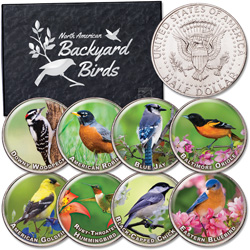 Birds of America Colorized Kennedy Half Dollar Set