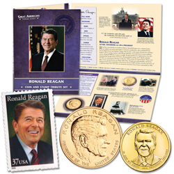 Reagan Coin and Stamp Set
