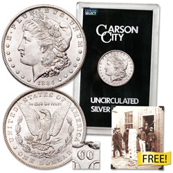 1884-CC Morgan Dollar in Government Holder