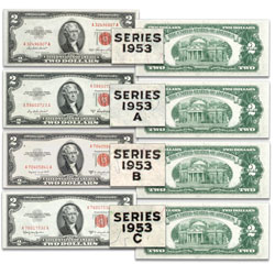 1953 $2 Legal Tender Note Signature Set