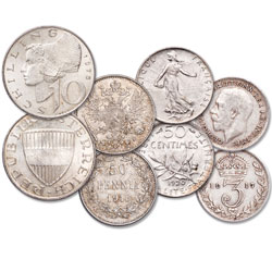 1897-1973 Classic Silver Coins of Europe Set
