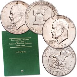 1971-1978 Eisenhower Dollar Set with Folder