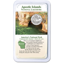2018 Apostle Islands National Lakeshore Quarter in Showpak