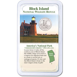 2018 Block Island National Wildlife Refuge Quarter in Showpak