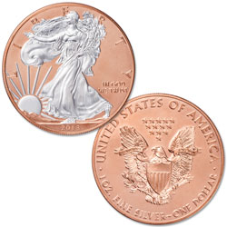 2018 Rose Gold-Plated Silver American Eagle with Case