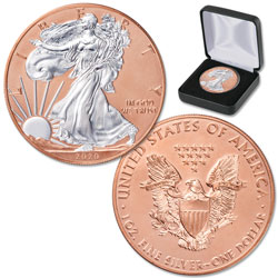 2020 Rose Gold-Plated Silver American Eagle with Case
