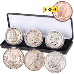 20th Century Large Silver Dollar Type Set