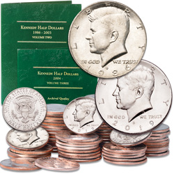 1986-2019 P&D Kennedy Half Dollar Set with Folders