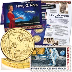 2019 Space Program Coin & Stamp Set