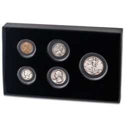 1944 U.S. Coin Year Set with Display Box
