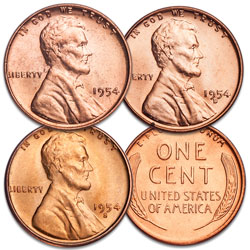 1954 PDS Lincoln Cent Set