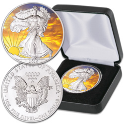 2020 Colorized & Gold-Plated Dawn's Early Light Silver American Eagle