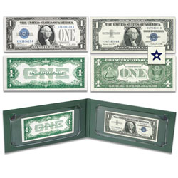 "1928-1957 $1 Silver Certificate ""First & Last"" Type Set"