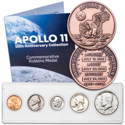 1969 Year Set and Apollo 11 50th Anniversary Medal