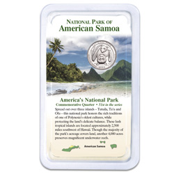 2020 National Park of American Samoa Quarter in Showpak