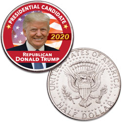 Colorized Donald Trump Presidential Candidate Coin
