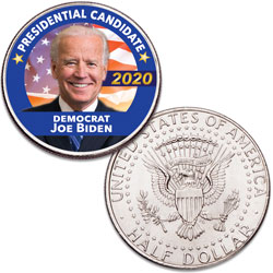 Colorized Joe Biden Presidential Candidate Coin
