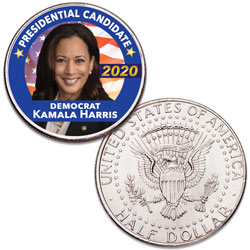 Colorized Kamala Harris Presidential Candidate Coin