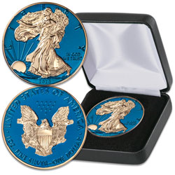 2020 Blue Titanium and Gold-Plated Silver American Eagle