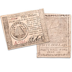 1778 $50 Continental Currency