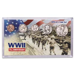 1945 World War II 75th Anniversary Coin Set with Holder