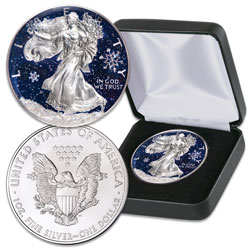 2019 Colorized Snowfall Silver American Eagle