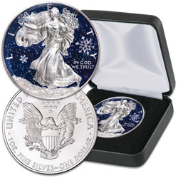 2020 Colorized Snowfall Silver American Eagle