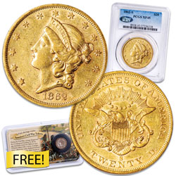 1862-S Type 1 Liberty Head $20 Gold Piece