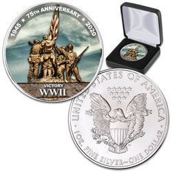 2020 Colorized WWII Victory Silver American Eagle