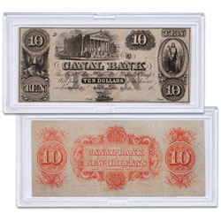 1850's $10 Canal Bank Note with Holder