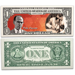 Colorized U.S. Innovation $1 Federal Reserve Note - Pennsylvania