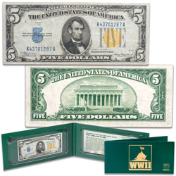 Series 1934A WWII $5 Silver Certificate in Holder