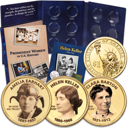 "Prominent Women ""Golden"" Colorized Presidential Dollar Set"