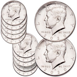 2015-2020 P&D Kennedy Half Dollar Set with Album
