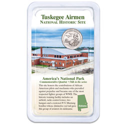 2021 Tuskegee Airmen National Historic Site Quarter in Showpak