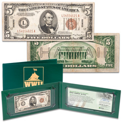 1934A $5 Federal Reserve Hawaii Emergency Note in Holder