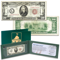 1934A $20 Federal Reserve Hawaii Emergency Note in Holder
